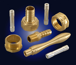 Various components manufactured on screw machines
